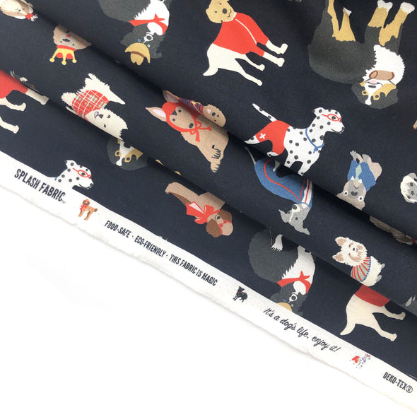 INK DOG Fabric - Laminated Cotton - by the yard