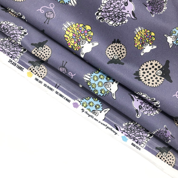 PLUM SHEEP Fabric - Laminated Cotton - by the yard