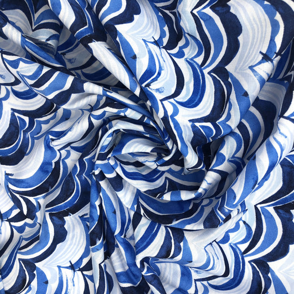 WAVES Fabric 10yd Roll - 100% Cotton (Uncoated)