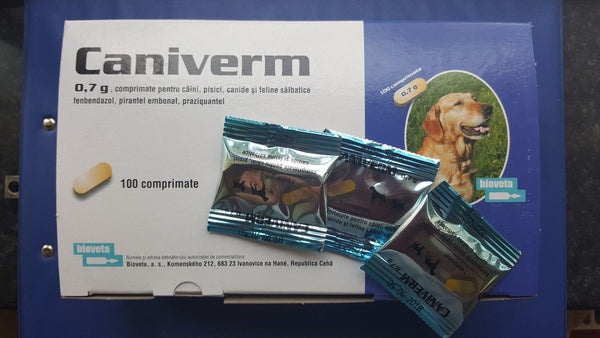 CANIVERM 0.7g All Wormer for Dog 100 Tablets
