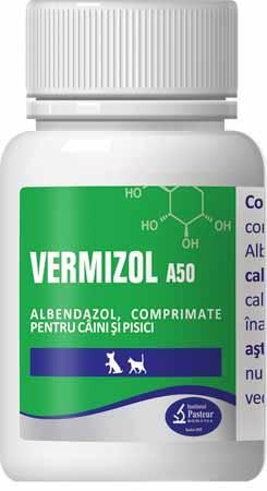 Vermizol A50 50 pills Albendazole 50mg For Dog & Cat