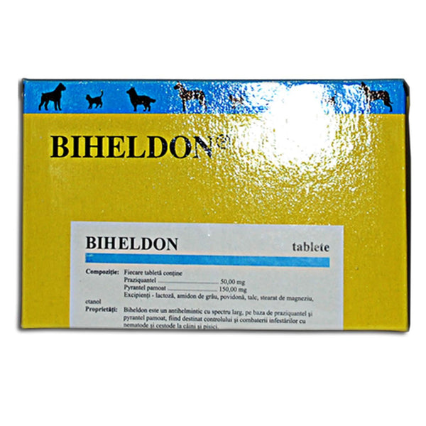 BIHELDON 50cp Praziquantel,Pyrantel pamoat for Dog and Cat