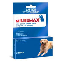 MILBEMAX 125mg 2 Tablets for DOG AllWormer