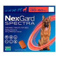 NexGard Spectra Chewable 3 Tablets for Extra Large Dogs 30-60kg prevention of heartworm disease