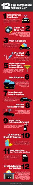 12 tips in washing a black car infographic