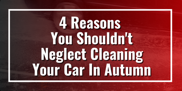 4 Reasons You Shouldn't Neglect Cleaning Your Car In Autumn