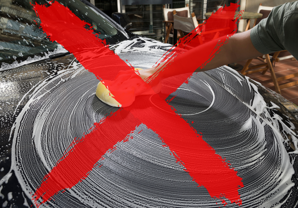do not wipe in circles to avoid swirl marks