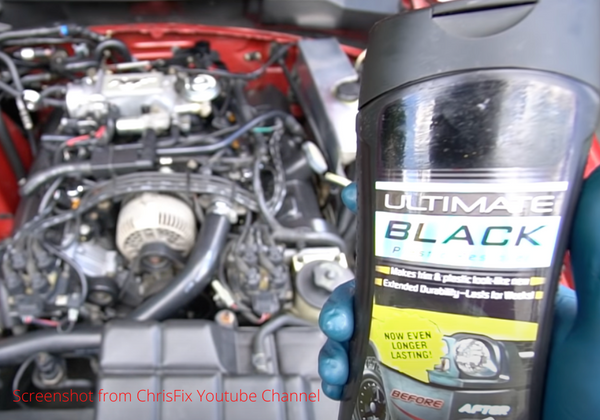 engine bay trim restore for rubber and plastic parts