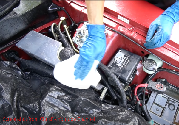 engine bay wet cleaning the outside part