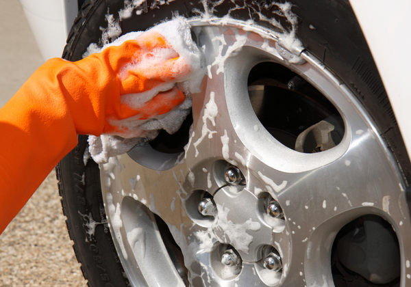 wash the wheels first to avoid scratches