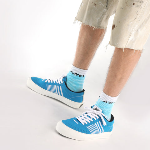 Goofy Lace Up Stripes - Surf/White