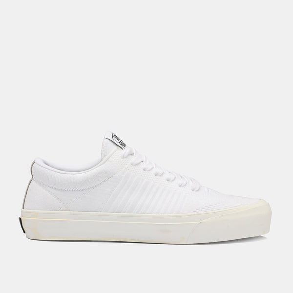 Goofy Lace Up Stripes - White