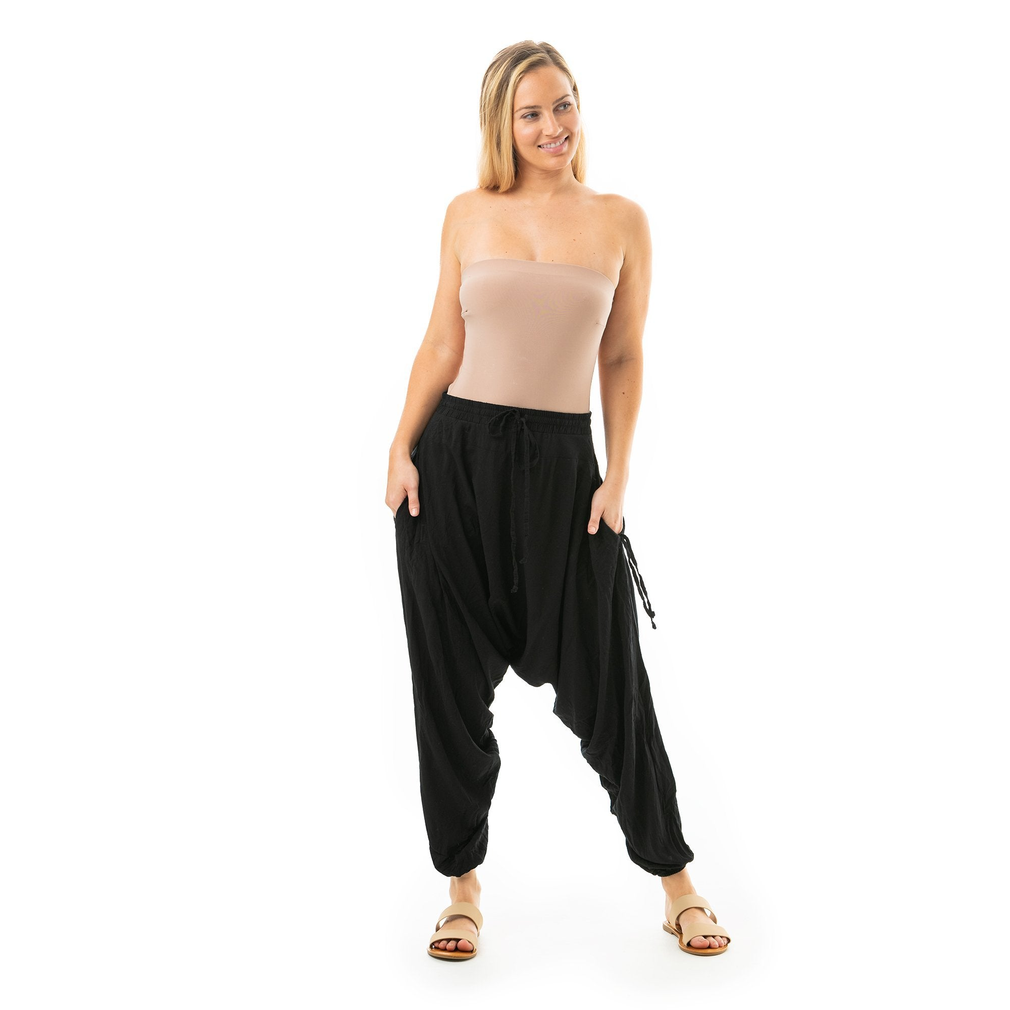 Black Summer Harem Pants by Buddha Pants® - Buddha Pants®