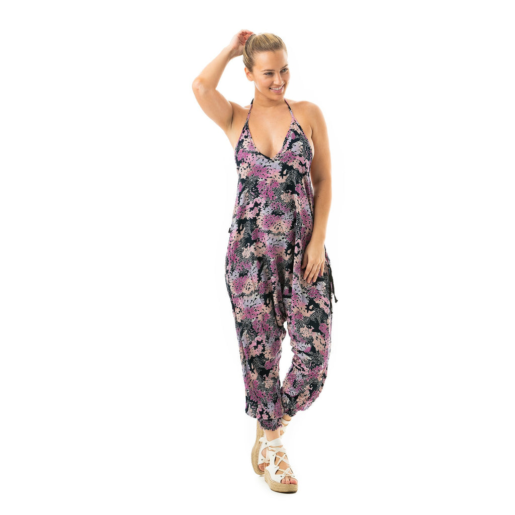 Digital Rainbow Harem Jumpsuit By Buddha Pants® - Buddha Pants®