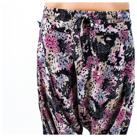 Digital Rainbow | Harem Pants - Harem Pants Yoga pants