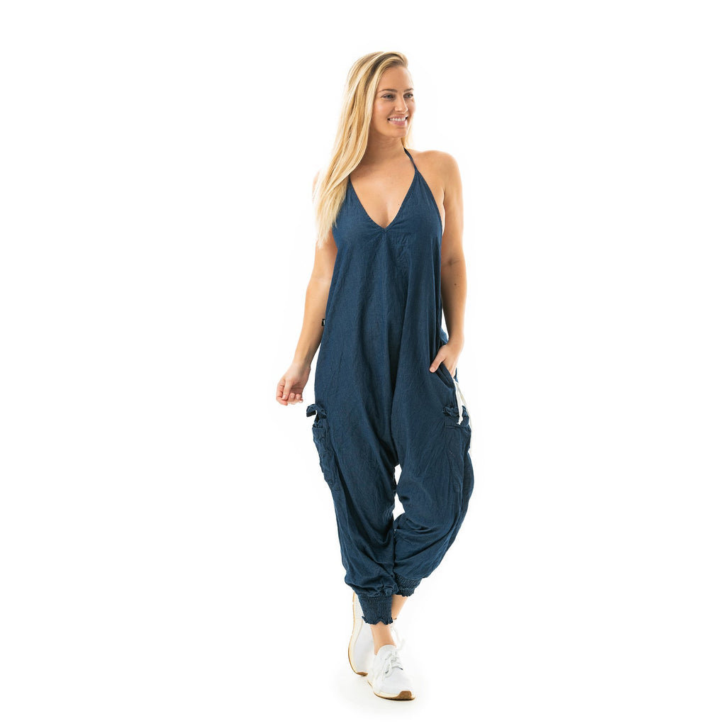 Jean Harem Jumpsuit By Buddha Pants® - Buddha Pants®
