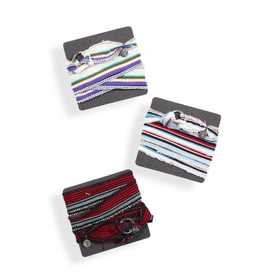 Stripe Wrap Bracelet (3 PACK) by: Buddha® - Buddha Pants®