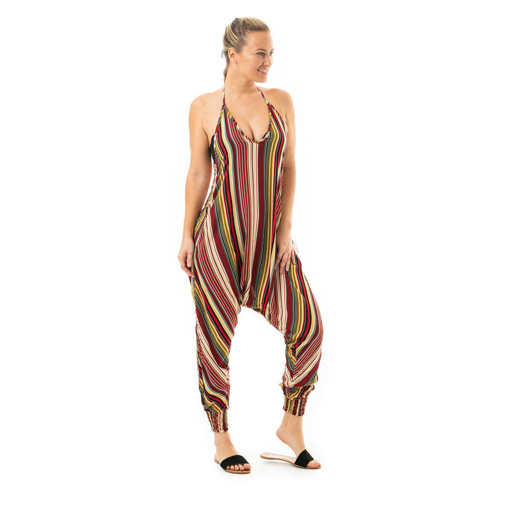 Striped Harem Jumpsuit By Buddha Pants® - Buddha Pants®