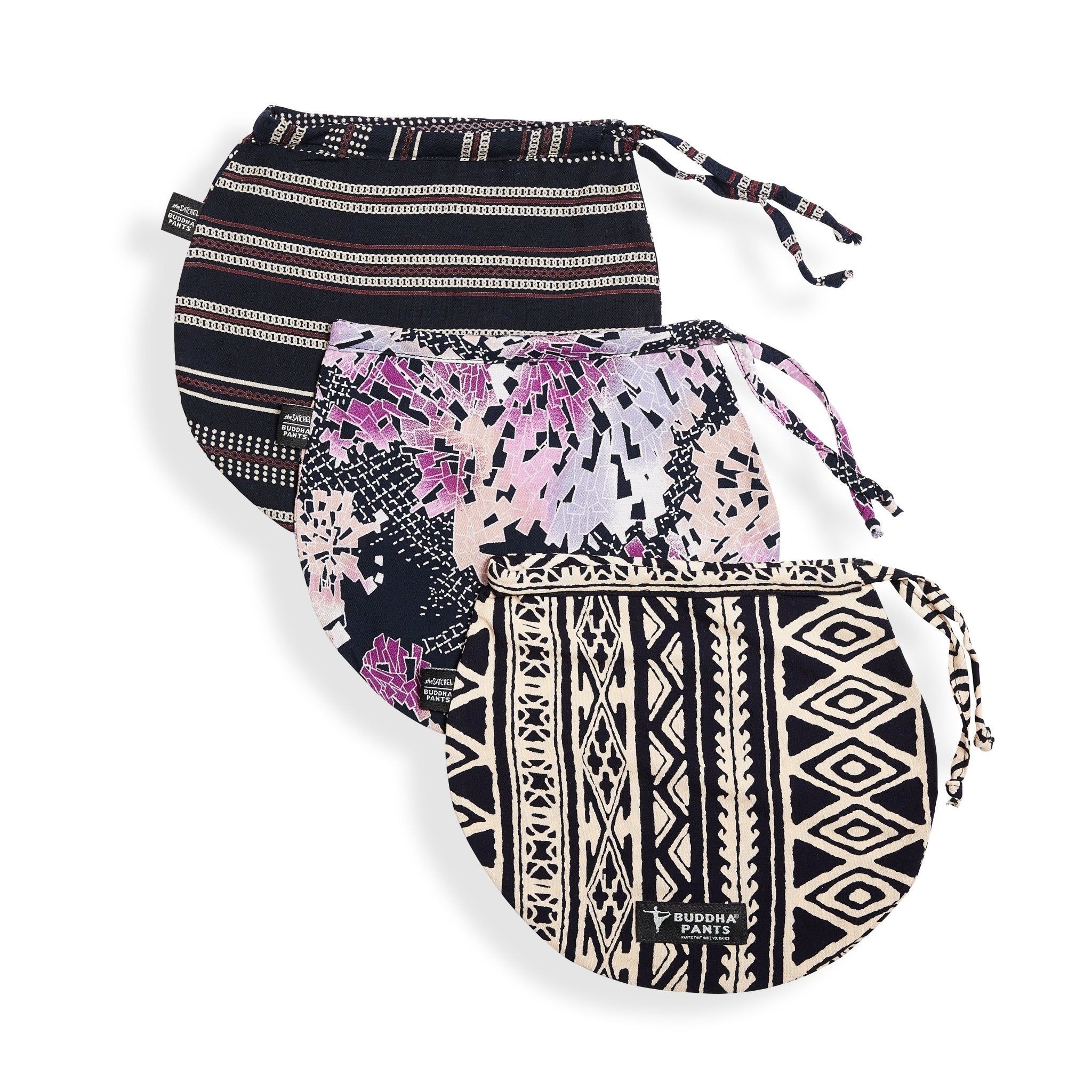 Variety Satchels (3 Pack) by: Buddha Pants® - Buddha Pants®