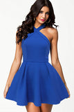 Royal Blue Mini Skater Dress - Everything 5 Pounds - 1