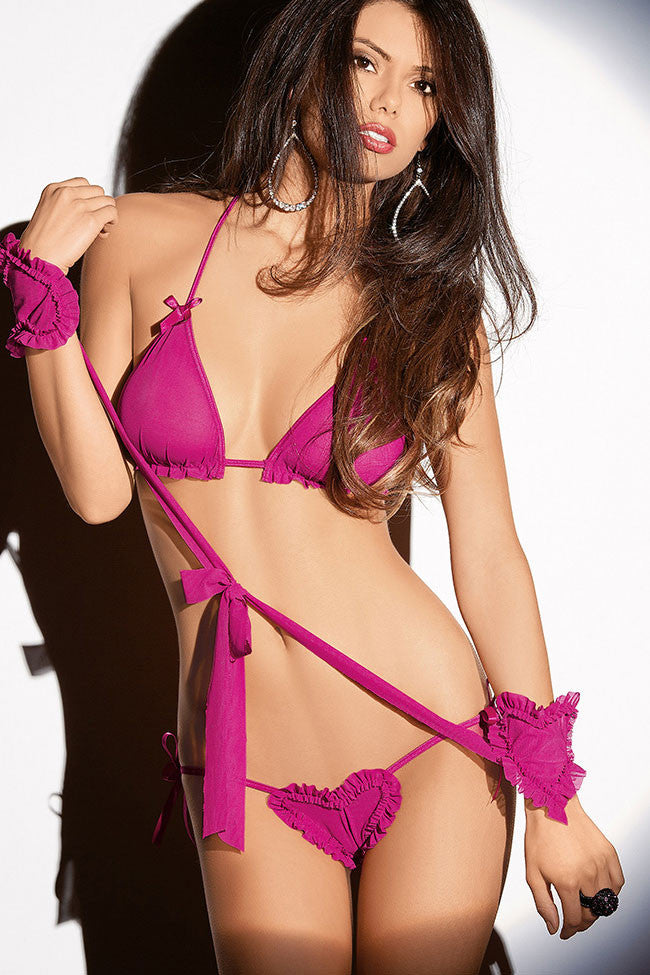 Valentine Seduction Lingerie Set - Everything 5 Pounds - 1