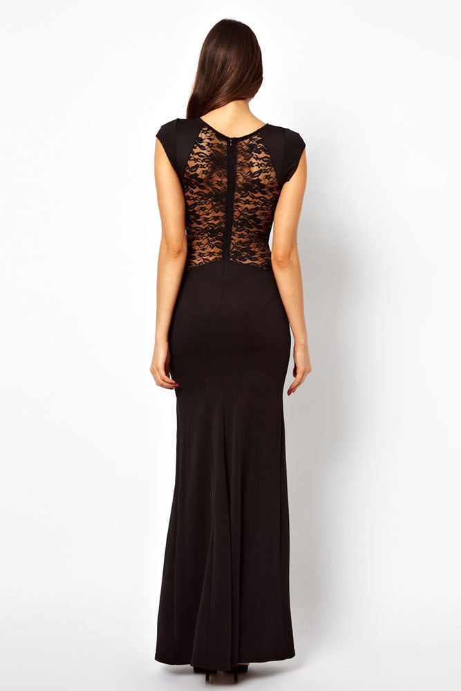 Maxi Dress with Lace Back and Fishtail - Everything 5 Pounds - 3