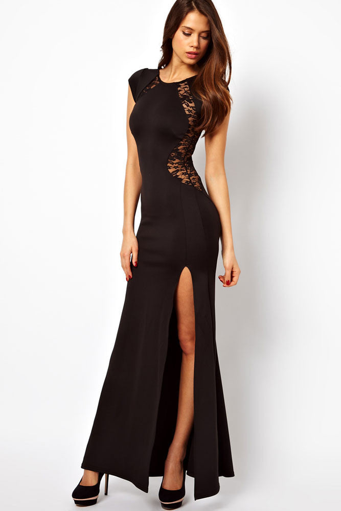 Maxi Dress with Lace Back and Fishtail - Everything 5 Pounds - 1