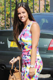 Ladies Celeb Inspired Tie Dye Splash Print Bodycon Midi Dress - Everything 5 Pounds - 2