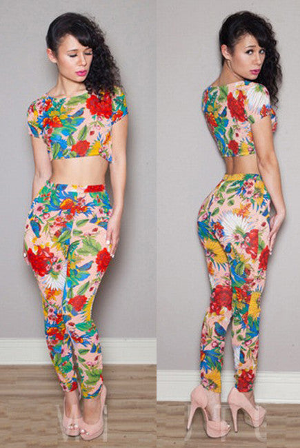 New Summer Floral Pant Set - Everything 5 Pounds