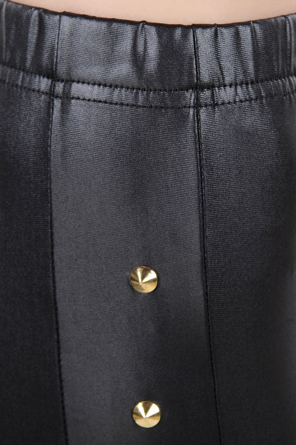 Gisele Black Faux Leather Legging - Everything 5 Pounds - 3