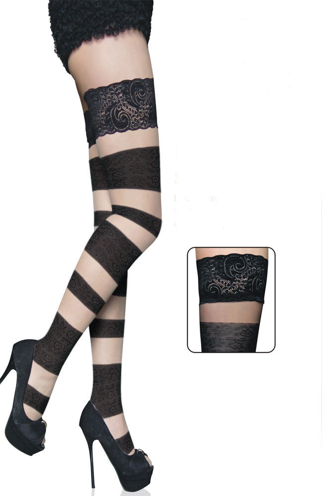 Floral Bandage Thigh High - Everything 5 Pounds