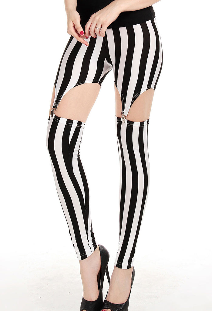 Tailored Vertical Stripe Legging - Everything 5 Pounds - 1