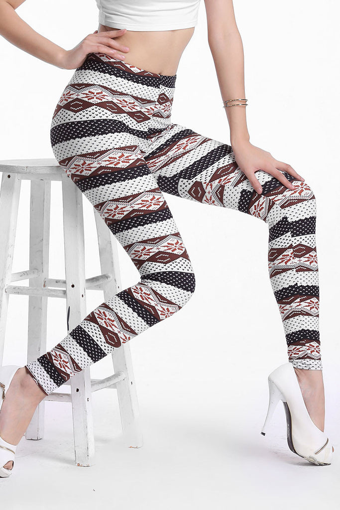 Trendy Ethnic Stripes Sexy Leggings - Everything 5 Pounds - 1