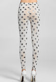 Silver Dots Sexy White Leggings - Everything 5 Pounds - 3