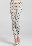 Silver Dots Sexy White Leggings - Everything 5 Pounds - 1
