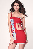 Sexy Twizzlers Party Dress Costume - Everything 5 Pounds - 1