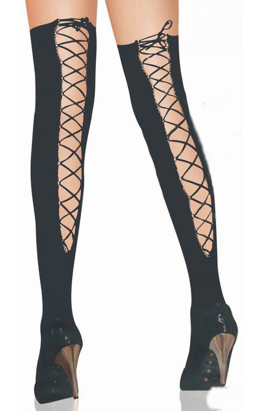 Lace Black Over Knee Stockings - Everything 5 Pounds