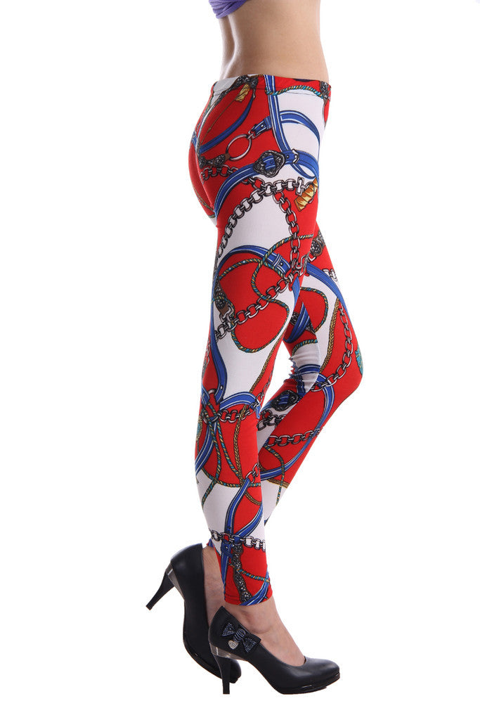 Baroque Style Fashion Leggings - Everything 5 Pounds