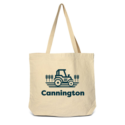 Cannington - Tractor Zippered Tote Bag