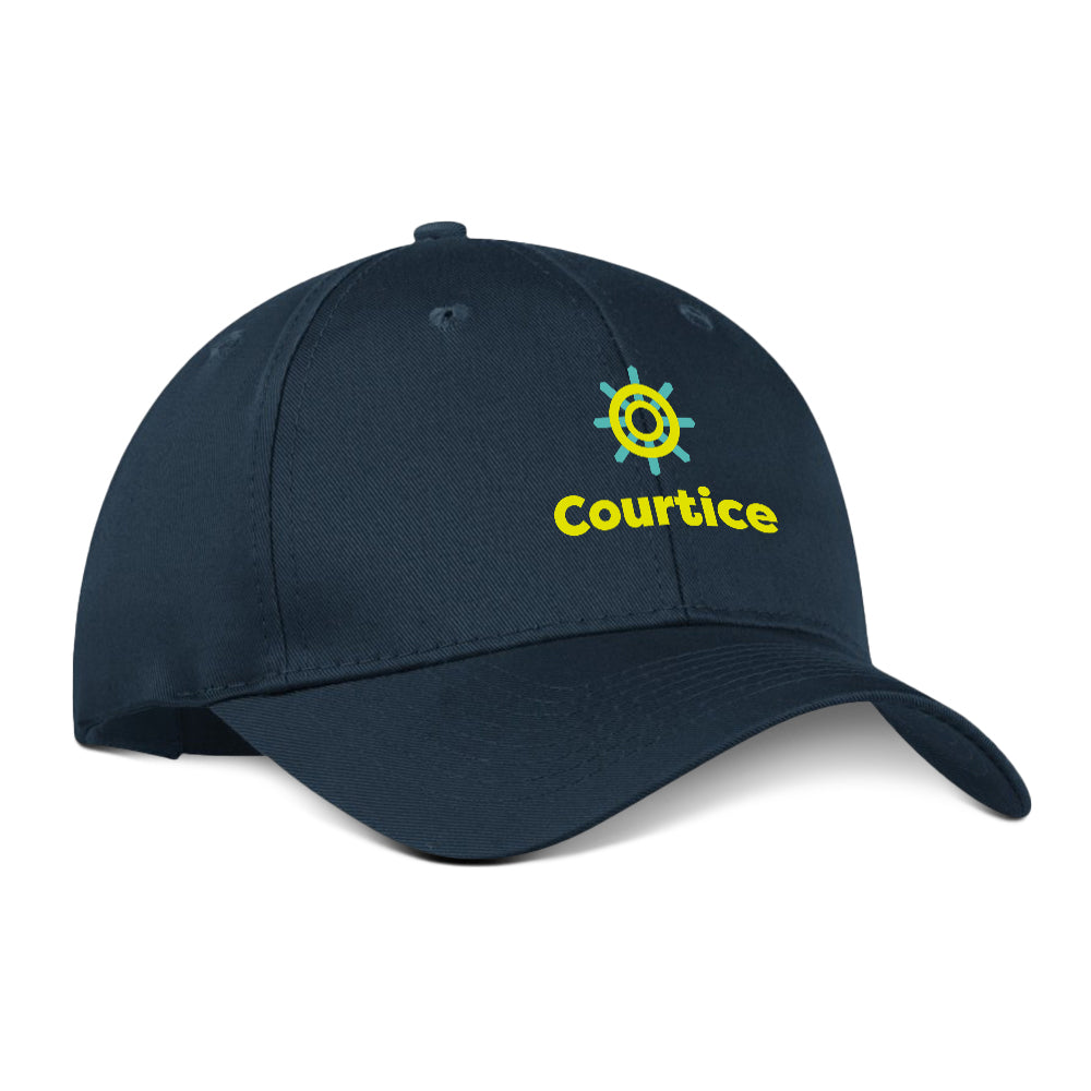 Courtice - Nautical Wheel Cotton Twill Cap