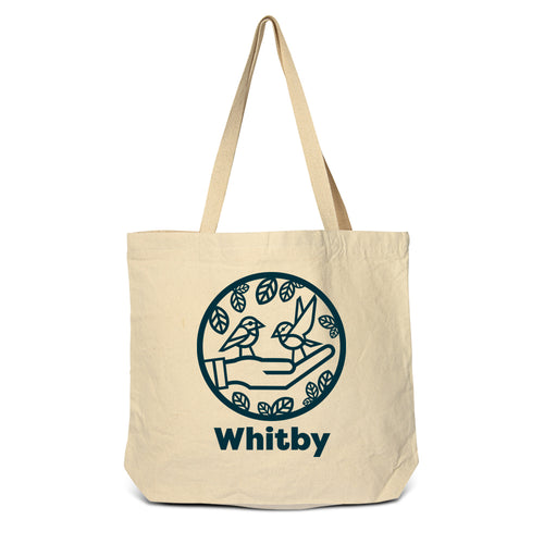 Whitby - Chickadees Zippered Tote Bag