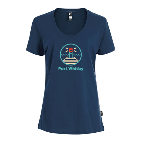 Whitby - Lighthouse Ladies Crewneck T-Shirt