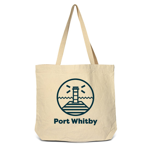 Whitby - Lighthouse Zippered Tote Bag