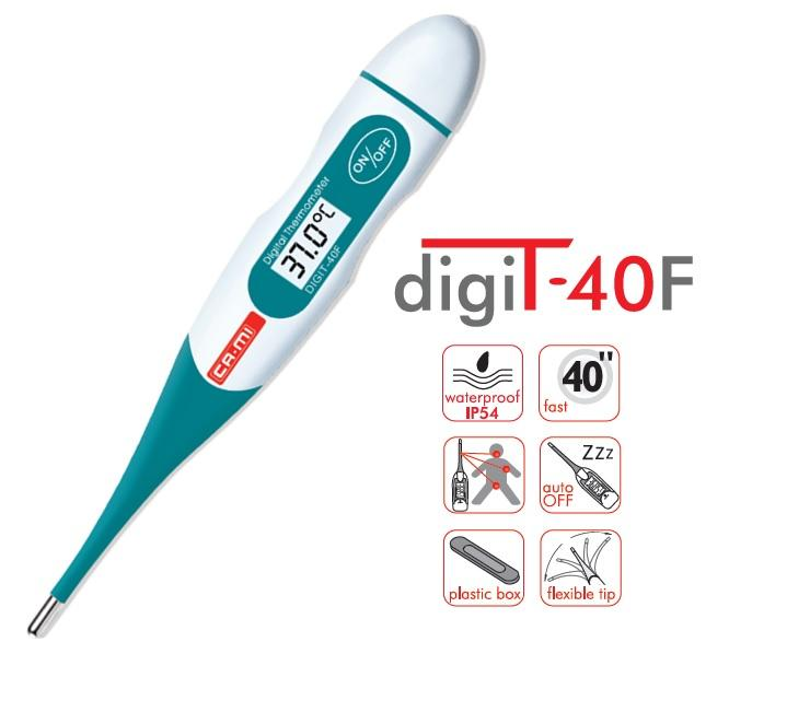 DigiT-40F Termometro Digitale 40 secondi punta flessibile