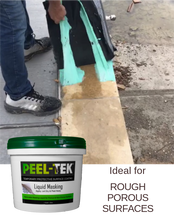 Load image into Gallery viewer, Peel-Tek Liquid Masking on concrete