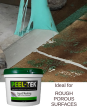 Load image into Gallery viewer, Peel-Tek Liquid Masking on stained concrete