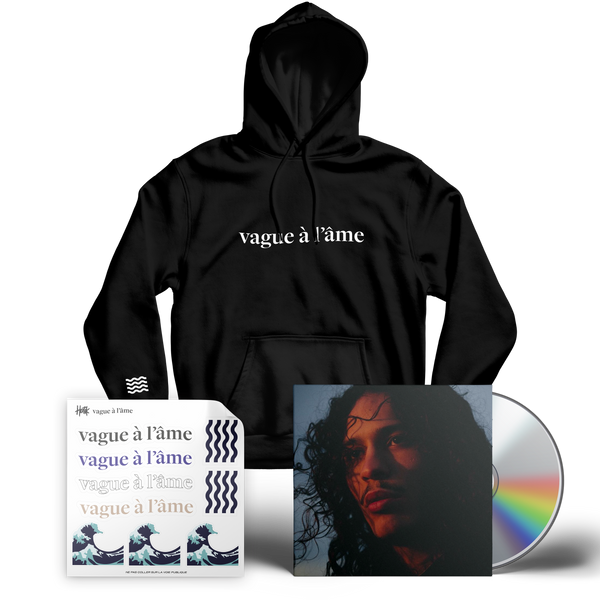 "VAGUE À L'ÂME - ""BLACK PACK SWEAT"" - (DOUBLE CD + HOODIE + STICKERS)"