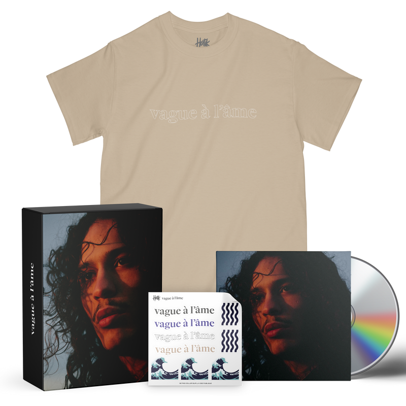"VAGUE À L'ÂME - ""PACK SABLE T-SHIRT"" (DOUBLE CD + T-SHIRT + STICKERS)"