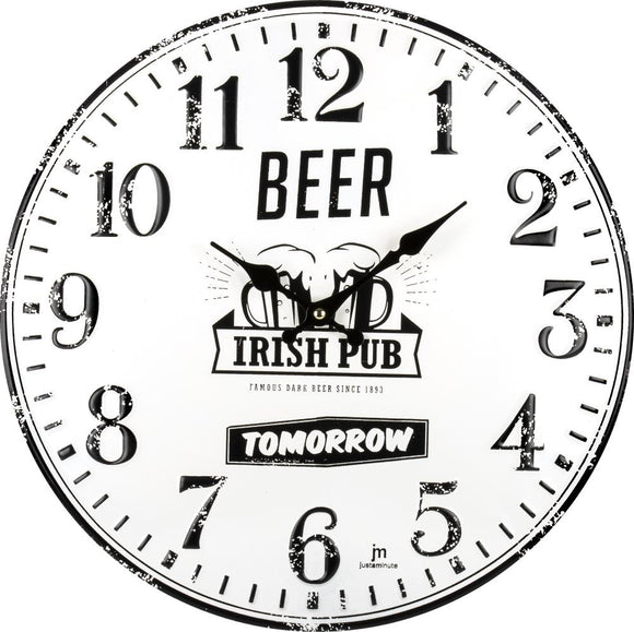 Wanduhr Lowell 21510 Beer