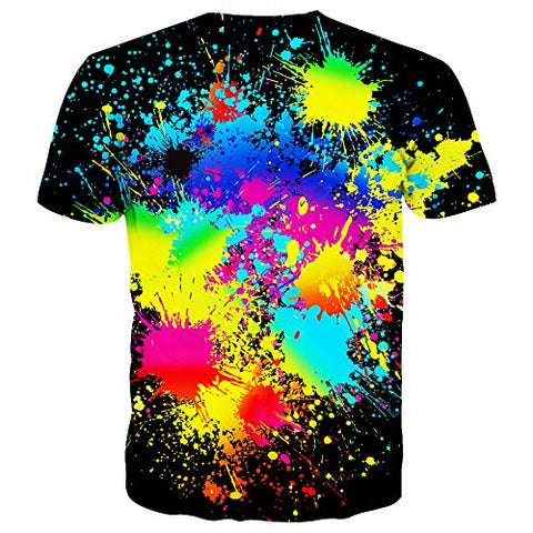 Syaimn Unisex 3D Printed T-Shirts Casual Graphics Tees